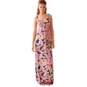 Lilly Pulitzer Villa Vneck Printed Maxi Dress